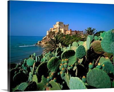Italy, Sicily, Licata, Falconara Castle near Licata
