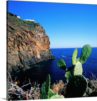 Italy, Sicily, Lighthouse, Punta Omo Morto, Marine Natural Park, Palermo district