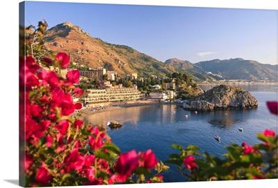 Italy, Sicily, Messina district, Taormina, Mazzaro bay