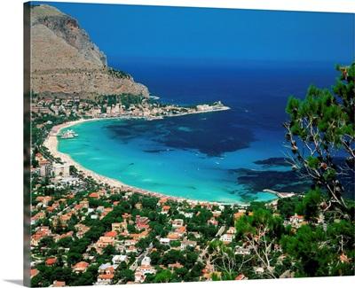 Italy, Sicily, Palermo, Mondello Beach