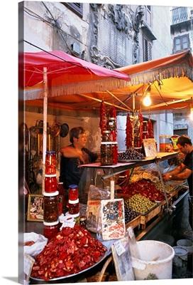 Italy, Sicily, Palermo, Vucciria, typical market