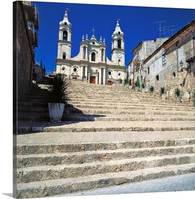 Italy, Sicily, Palma di Montechiaro, Palma di Montechiaro church in Agrigento county