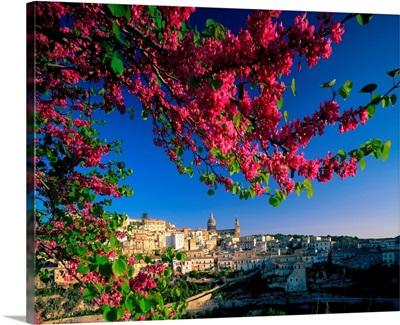 Italy, Sicily, Panorama of Ibla village near Ragusa