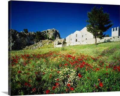 Italy, Sicily, View of Caltabellotta