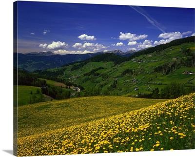 Italy, South Tyrol, Bolzano, View towards the valley