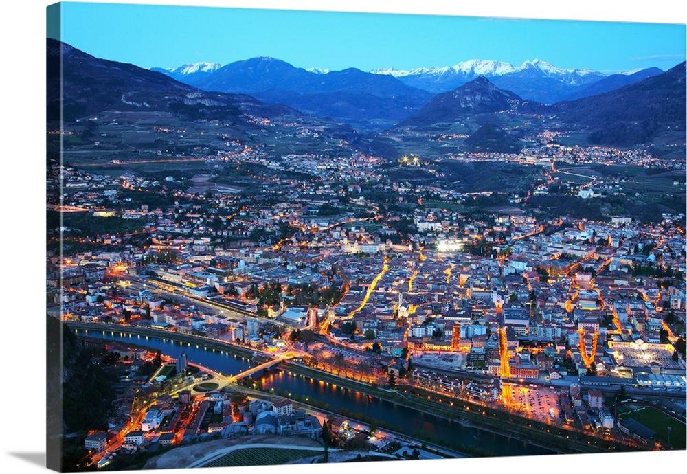 Italy TrentinoAlto Adige Alps Trento City Adige river Saint