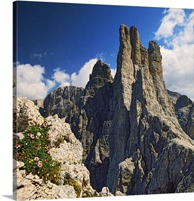 Italy, Trentino-Alto Adige, Catinaccio, Torri di Vajolet, Vajolet