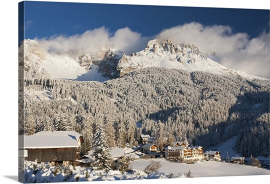 Winter Wall Art italy, trentino-alto adige, dolomites, bolzano, obereggen and