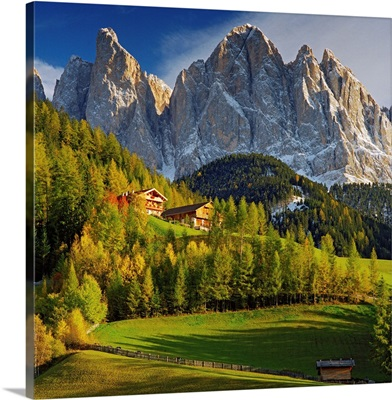 Italy, Trentino-Alto Adige, Dolomites, South Tyrol, Val di Funes, Santa Maddalena