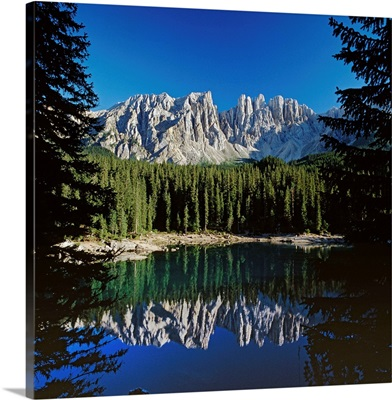 Italy, Trentino-Alto Adige, South Tyrol, Alps, Dolomites, Carezza lake