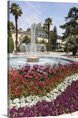 Italy, Trentino-Alto Adige, Trentino, Arco, Garda Lake, Arco castle and Municipal Casino