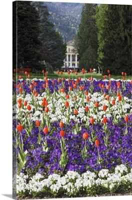 Italy, Trentino-Alto Adige, Trentino, Valsugana, Grand Hotel Terme in Levico park