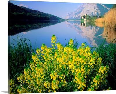 Italy, Trentino, Lago di Toblino and Castello di Toblino