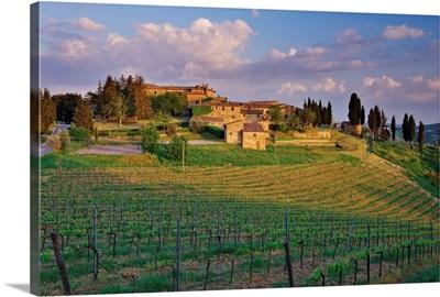 Italy, Tuscany, Chianti, Castelvecchi, village near Radda in Chianti