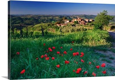 Italy, Tuscany, Chianti, Volpaia, village near Radda in Chianti