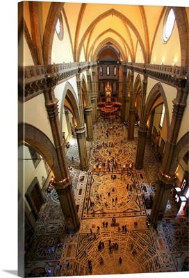 Italy, Tuscany, Florence, Basilica di Santa Maria del Fiore (cathedral), nave