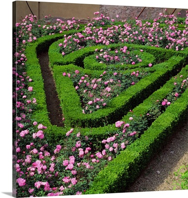 Italy, Tuscany, Florence, one of the foremost examples of an Italian style garden