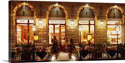 Italy, Tuscany, Florence, Piazza della Signoria, Cafe Rivoire