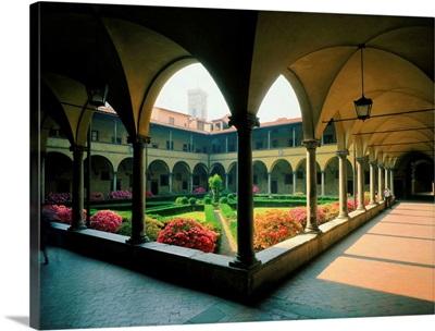 Italy, Tuscany, Florence, Saint Lorenzo Church, cloister