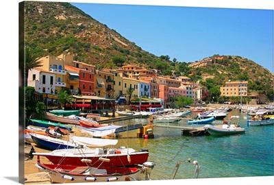 Italy, Tuscany, Isola del Giglio, Giglio Porto village, the harbor