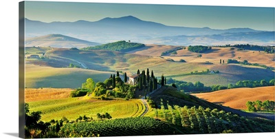 Italy, Tuscany, Mediterranean area, Siena district, Orcia Valley, Typical landscape
