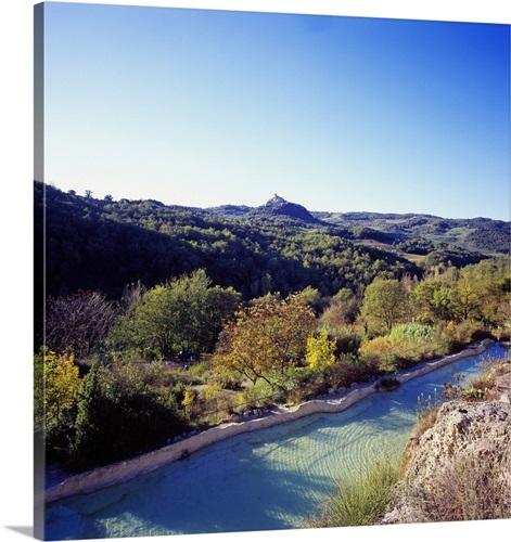 Italy, Tuscany, Orcia Valley, Bagno Vignoni, Hotel Posta Marcucci ...