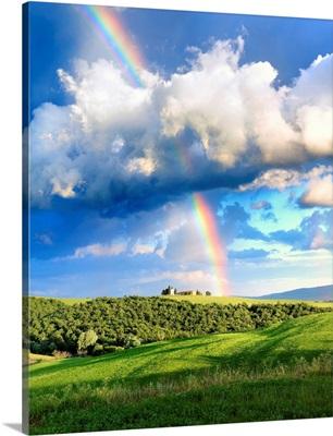 Italy, Tuscany, Siena District, Orcia Valley, San Quirico d'Orcia, Vitaleta Chapel