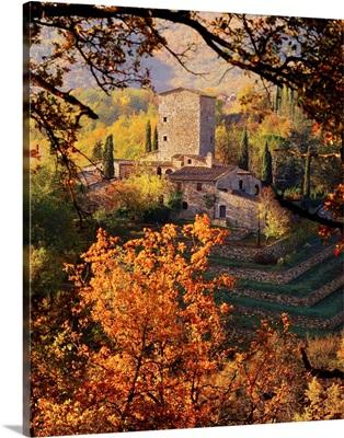 Italy, Tuscany, Siena, Piazza, country house