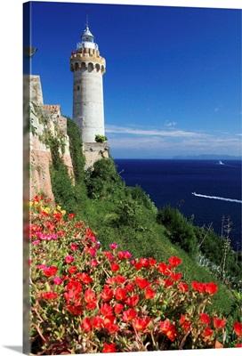 Italy, Tuscany, Tuscan Archipelago National Park, Elba island, Portoferraio lighthouse