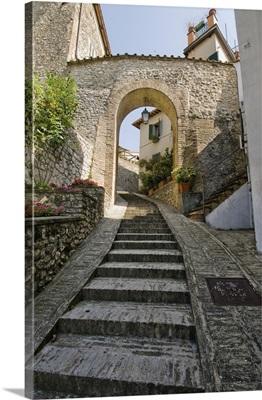 Italy, Umbria, San Gemini, Mediterranean area, Terni district, footsteps