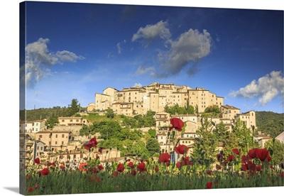 Italy, Umbria, Valnerina, Arrone, Casteldilago locality in Valnerina Valley