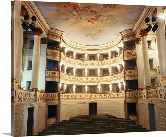 Italy, Veneto, Castelfranco Veneto, Teatro Accademico Wall Art ...