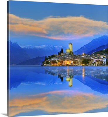 Italy, Veneto, Mediterranean area, Verona district, Garda Lake, Malcesine
