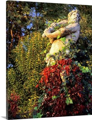 Italy, Veneto, Oriago, statue in the village