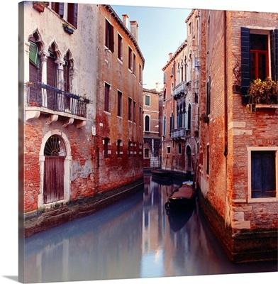 Italy, Venice, Canal, Canal near Santa Maria dei Miracoli church