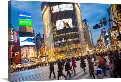 Japan, Kanto, Tokyo, Shibuya street scene
