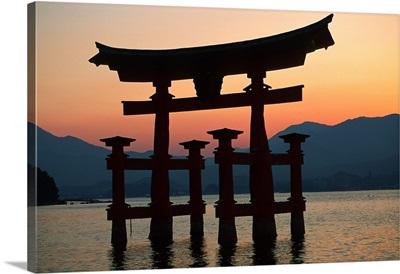 Japan, Miyajima, Torii Gate