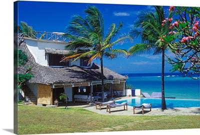 Kenya, Mombasa, Diani beach near Mombasa, Alfajiri Villa Resort