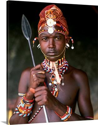 Kenya, Mount Kenya, National Park, Samburu warrior
