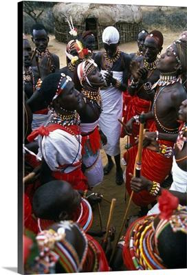 Kenya, Rift Valley, Laikipia Plateau, Loisaba Wilderness Lodge, Samburu Warriors