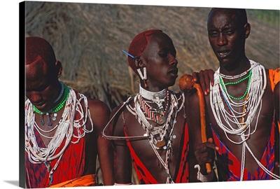 Kenya, Rift Valley, Masai warriors