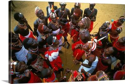 Kenya, Samburu dance