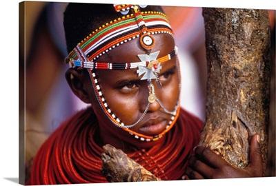 Kenya, Samburu woman