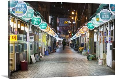 Korea, South Korea, Pusan-si, Pusan, Haeundae Market