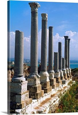 Lebanon, Al-Janub, Tyre, Ruins near the old port