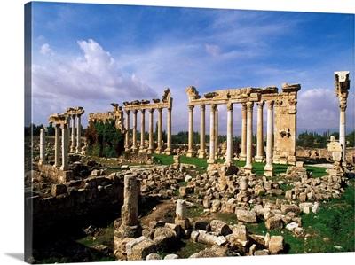 Lebanon, Beqaa, Ba'labakk, Ruins of Odeon