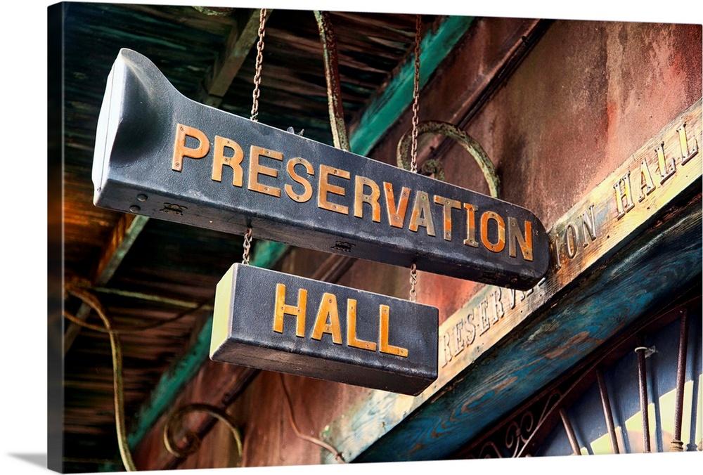 CANVAS Preservation Hall Jazz Art print POSTER