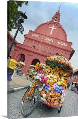 Malaysia, Melaka, Melaka, Protestant church, rickshaw, Christ Church