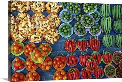 Malaysia, Selangor, Southeast Asia, Kuala Lumpur, Vegetable market
