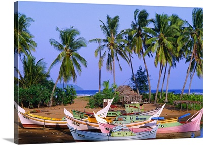 Malaysia, Terengganu, Marang East Coast, Boats on the river